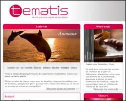 Page d'accueil de Tematis