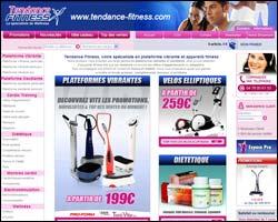 Page d'accueil de Tendance Fitness