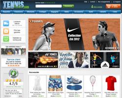 Page d'accueil de Tennis Achat