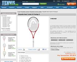 Une fiche produit de Tennis Achat