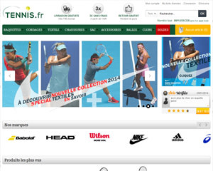 Page d'accueil de Tennis.fr