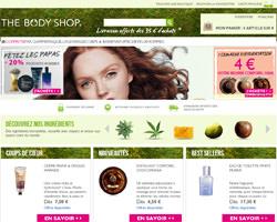 Page d'accueil de The Body Shop
