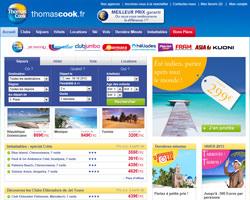 Page d'accueil de Thomas Cook