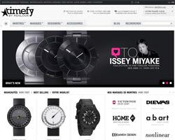 Page d'accueil de Timefy