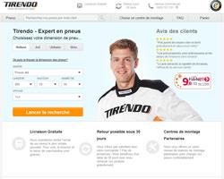 Page d'accueil de Tirendo
