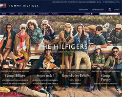 Page d'accueil de Tommy Hilfiger