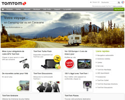 Page d'accueil de TomTom