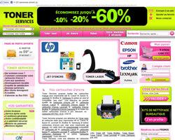 Page d'accueil de Toner Services