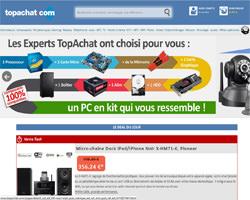 Page d'accueil de Top Achat