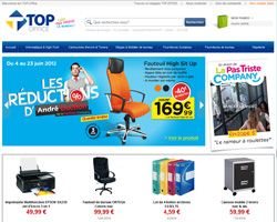 Page d'accueil de Top Office