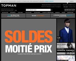 Page d'accueil de Topman