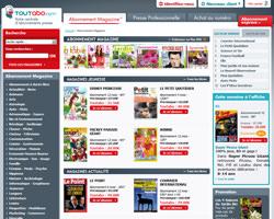 Page d'accueil de Toutabo