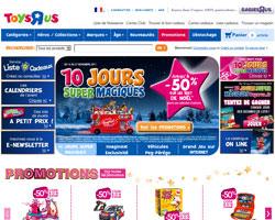 Page d'accueil de Toys'R'Us