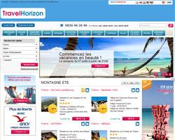 Page d'accueil de TravelHorizon