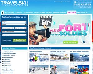 Page d'accueil de TravelSki