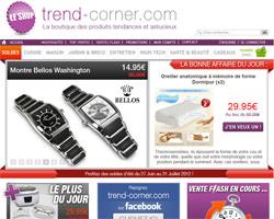 Page d'accueil de Trend-Corner
