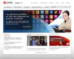 Page d'accueil de Trend Micro