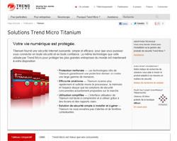 Une fiche produit de Trend Micro