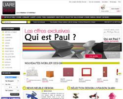 Page d'accueil de UareDesign