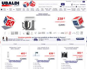 Page d'accueil de Ubaldi
