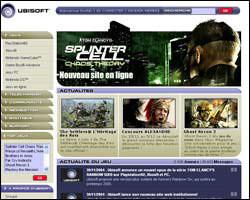 Page d'accueil de Ubisoft