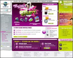 Page d'accueil de Universal Mobile