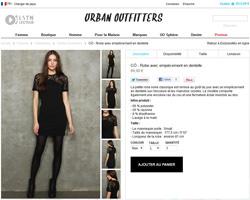 Une fiche produit de Urban Outfitters