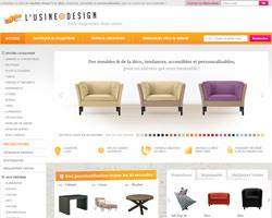 Page d'accueil de Usine à Design