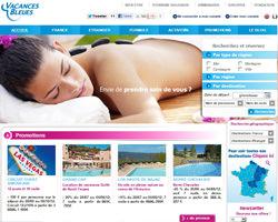 Page d'accueil de Vacances Bleues