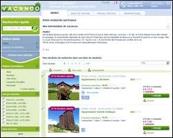 Page d'accueil de Vacando