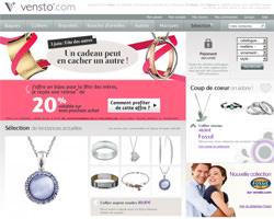 Page d'accueil de Vensto