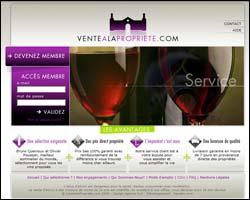 Page d'accueil de Vente à la propriété