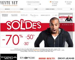 Page d'accueil de Vente Net