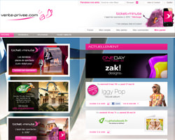 Page d'accueil de vente-privee.com