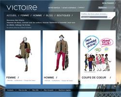 Page d'accueil de Victoire Paris