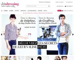 Page d'accueil de Vide Dressing