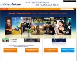 Page d'accueil de Video Futur