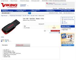 Une fiche produit de Viking Direct