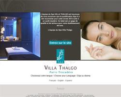 Page d'accueil de Villa Thalgo