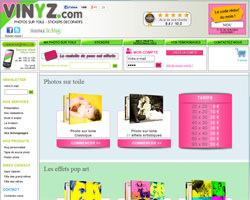 Page d'accueil de Vinyz