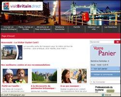 Page d'accueil de Visit Britain