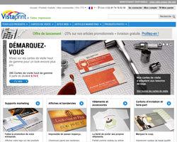 Page d'accueil de VistaPrint