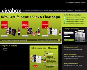 Page d'accueil de Vivabox