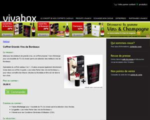 Une fiche produit de Vivabox