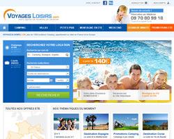 Page d'accueil de Voyages Loisirs