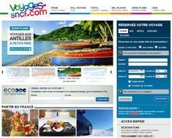 Page d'accueil de Voyages-SNCF