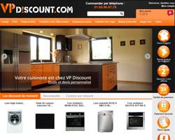 Page d'accueil de VP Discount