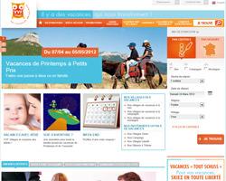 Page d'accueil de VVF villages