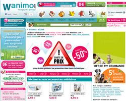 Page d'accueil de Wanimo