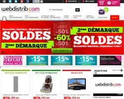 Page d'accueil de Webdistrib